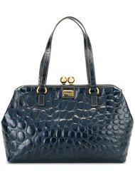 сумка-тоут с эффектом крокодиловой кожи Gianfranco Ferre Vintage