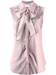 рубашка без рукавов с эффектом 'trompe l'oeil' Moschino
