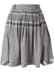 расклешенная юбка с геометрическим узором Cecilie Copenhagen
