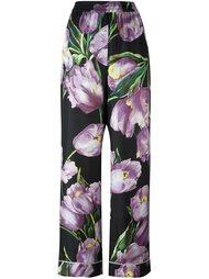 пижамные брюки с принтом тюльпанов Dolce & Gabbana