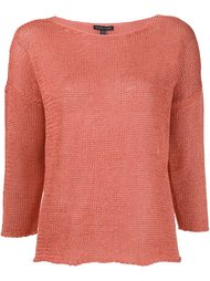 knitted boat neck sweater Eileen Fisher