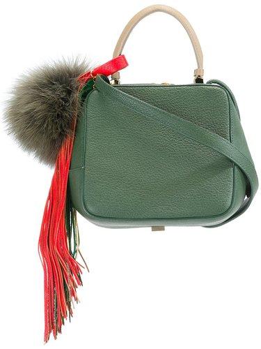 сумка на плечо с помпоном The Volon