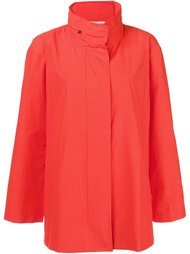 funnel neck raincoat Eileen Fisher