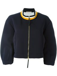 куртка-бомбер с воротником в полоску Marni