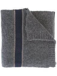 полосатый трикотажный шарф Brunello Cucinelli
