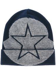 шапка-бини с принтом звезды  Moncler