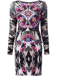 платье с камуфляжным принтом  Nicole Miller