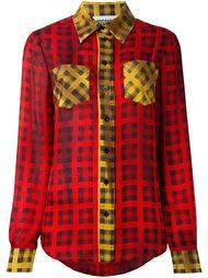 tartan check shirt Moschino