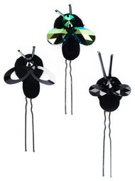crystal bug hair pins Piers Atkinson