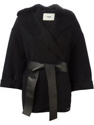 куртка с меховым воротником  Fendi