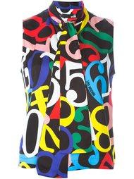 блузка с принтом цифр  Love Moschino
