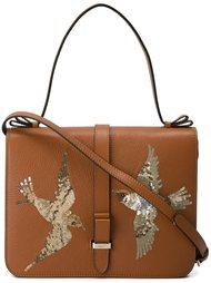 сумка через плечо с птицами из бисера  Red Valentino