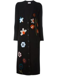 multi-pattern cardi-coat Red Valentino