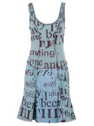 платье с вышитым текстом Projet Alabama