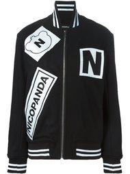 куртка-бомбер с нашивками  Nicopanda