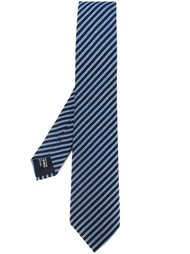 жаккардовый галстук в полоску Giorgio Armani