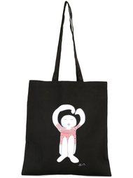 сумка-тоут с принтом логотипа  Société Anonyme