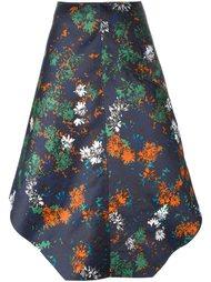 асимметричная юбка с цветочным принтом Cédric Charlier