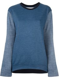 panelled sweatshirt Water