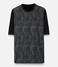 жаккардовая футболка с геометрическим принтом Christopher Kane