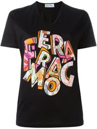 logo patch T-shirt Salvatore Ferragamo