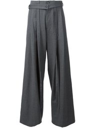 deconstructed wide-leg trousers Icosae