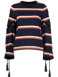 striped drawstring top Sacai