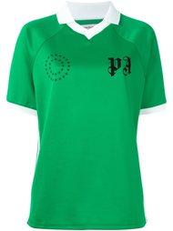 футболка-поло с контрастной окантовкой  Palm Angels