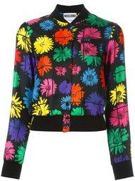 куртка-бомбер с цветочным принтом   Moschino