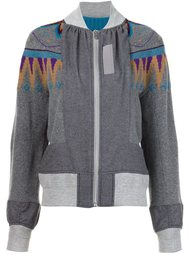 Nordic zip front knit Sacai