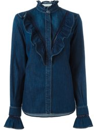 джинсовая рубашка с оборками Stella McCartney