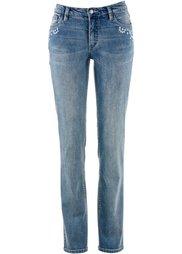 Прямые джинсы-стретч, низкий рост (K) (голубой) Bonprix