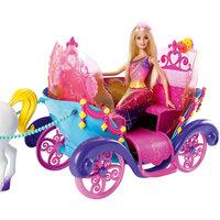 Радужная карета и кукла, Barbie Mattel