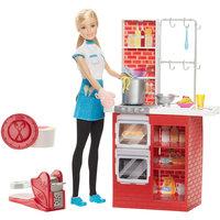 """Игровой набор """"Шеф итальянской  кухни"""" с куклой, Barbie Mattel"""