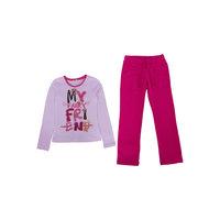 Комплект :футболка с длинным рукавом и брюки для девочки PELICAN