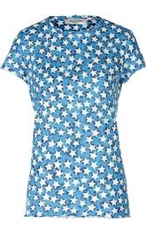 Хлопковая приталенная футболка с принтом в виде звезд Valentino