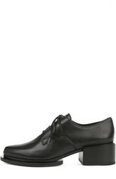 Кожаные ботинки с зауженным мысом DKNY