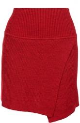 Вязаная мини-юбка асимметричного кроя Isabel Marant Etoile