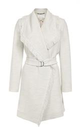 Пальто с поясом и широкими лацканами с бахромой HUGO BOSS Black Label