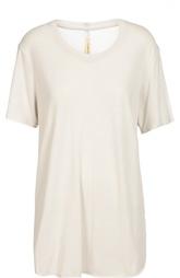 Удлиненная футболка свободного кроя с круглым вырезом Raquel Allegra