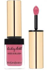 Румяна и блеск для губ Baby Doll Kiss&Blush, оттенок 02 YSL