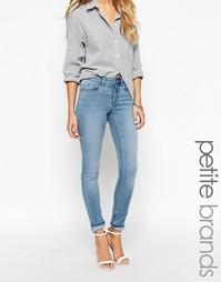 Светлые узкие джинсы Noisy May Petite - Синий