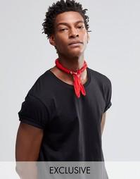 Красный шейный платок с принтом пейсли Reclaimed Vintage - Красный
