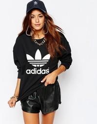 Oversize-свитшот с круглым вырезом и логотипом-трилистником Аdidas Ori Adidas