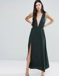 Платье макси с глубоким V‑образным вырезом Pixie & Diamond