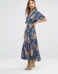 Платье миди с абстрактным принтом Free People Sweet Escape