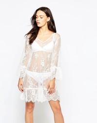 Кружевное платье Minimum Era - Кремово-белый