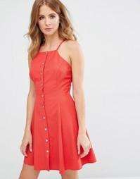 Платье мини на пуговицах Millie Mackintosh - Красный