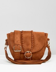 Фестивальная сумка с плетеной отделкой Missguided - Рыжий