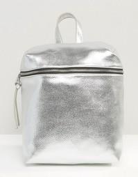 Фактурный рюкзак с эффектом металлик Missguided - Серебряный
